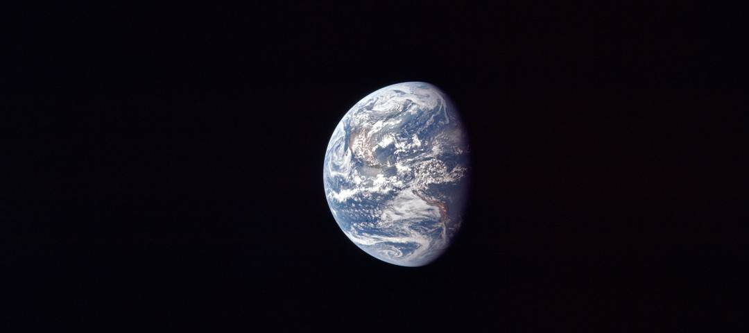 Die Erde fotografiert aus dem Apollo-Raumschiaff am 17. Juli 1969.