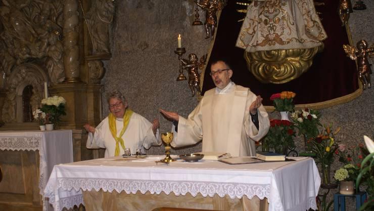 Pater Ludwig und Monika Fraefel gestalteten den Gottesdienst eindrücklich.