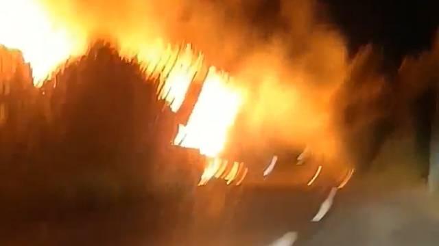 Buttwil AG: Bauernhof brennt nieder