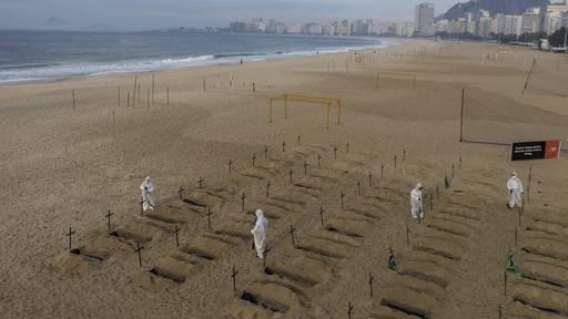 100 Gräber an brasilianischem Strand ausgehoben