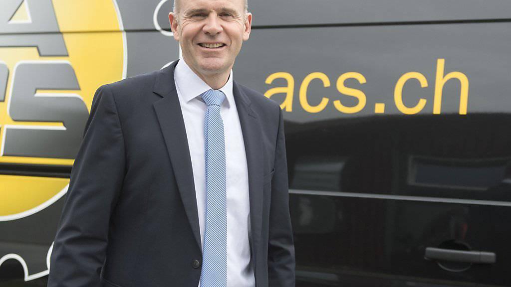 Thomas Hurter nach seiner Wahl zum ACS-Zentralpräsidenten im September: In den vergangenen Monaten war der Schaffhauser SVP-Nationalrat stark mit der Lösung interner Konflikte beschäftigt. (Archivbild)