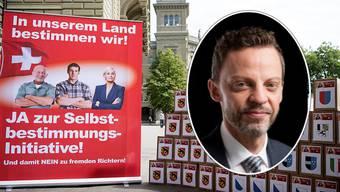 """Hans-Ueli Vogt: Meine Partei ist die einzige, die sich dagegen wehrt, dass die demokratischen Mitbestimmungsrechte der Bürger ausgehebelt werden."""""""