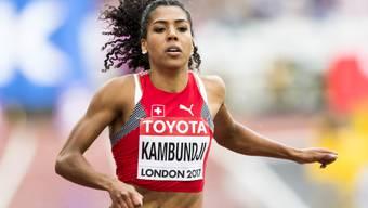 Mujinga Kambundji ist mit ihrer Zeit von 11,11 s nicht bei den Schnellsten