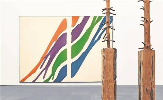 Formenspiel: Morris Louis: «Ro» (1960), Giuseppe Penone: «Albero» (1983).
