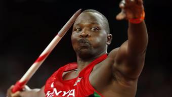 Julius Yego setzt zum Goldwurf an