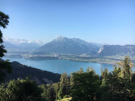 Guete Morge, schönste Aussicht vom Hotel Bellevue aus.