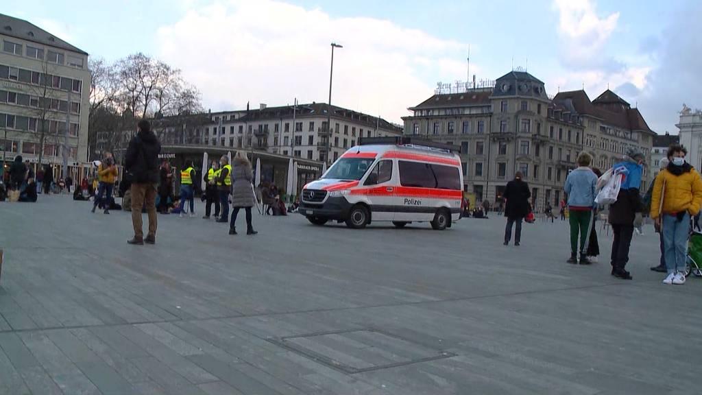 Unbewilligter Klimastreik in Zürich