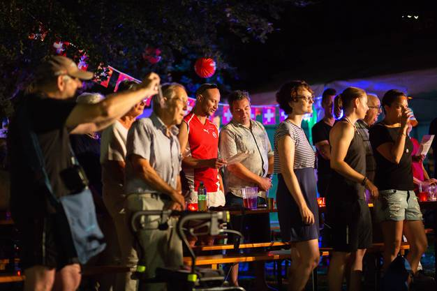 Die 1. August-Feier in der Stadt Solothurn beim Soldatendenkmal.