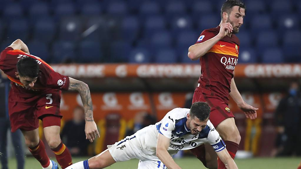 Remo Freuler führt Atalanta Bergamo bei der AS Roma als Captain aufs Feld und in dieser Funktion zu einem 1:1-Remis.
