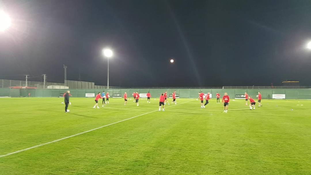 Das erste Training in Belek