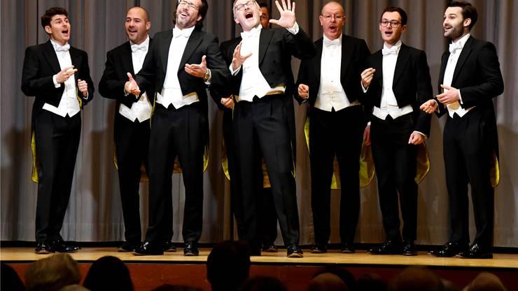 Die A-cappella-Gruppe The Singing Pinguins unterhielt das Publikum mit viel Humor und Gesang.