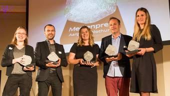 Die strahlenden Gewinner: (v.l.n.r) Simone Morger, Christof Ramser, Sandra Ardizzone, Alex Moserund und Fiona Endres.