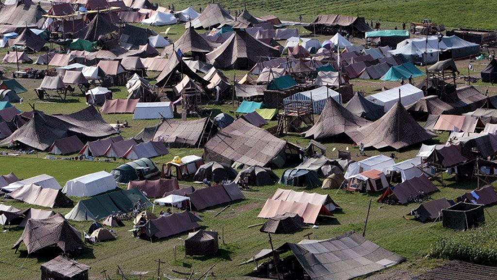 Das letzte Bundeslager der Schweizer Pfadibewegung fand 2008 in der Linthebene statt. Über 20'000 Pfadi aus der Schweiz und aus dem Ausland nahmen daran teil. 2021 soll ein weiteres Bula stattfinden. (Archivbild)