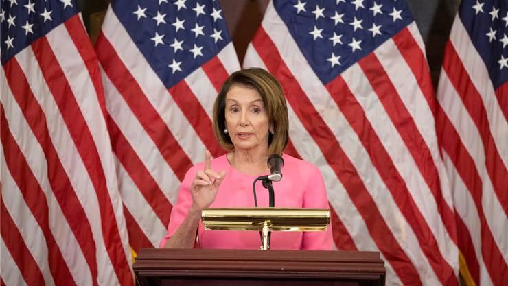 Nancy Pelosi könnte erneut zur «Madam Speaker» des Repräsentantenhauses Donald Trump das Leben schwer machen. Key
