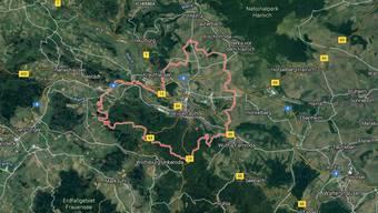 Der Unfall ereignete sich nahe der Gemeinde Eisenach im ostdeutschen Bundessland Thüringen.