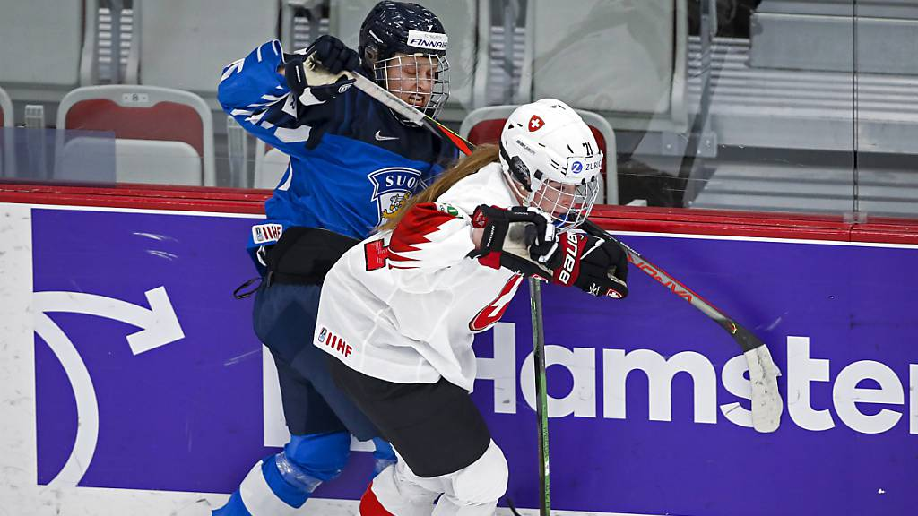 Nur selten konnten die Schweizerinnen, im Bild Lena Marie Lutz, die Finninnen in Bedrängnis bringen.