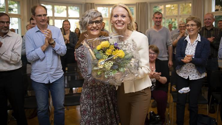 Lilian Studer (r.) strahlte vor Glück über den Einzug ins Parlament.