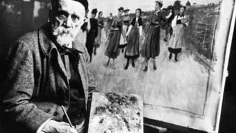 Albert Anker in seinem Atelier um 1900: Seine Bilder kosten heute mehrere Millionen (Archiv)