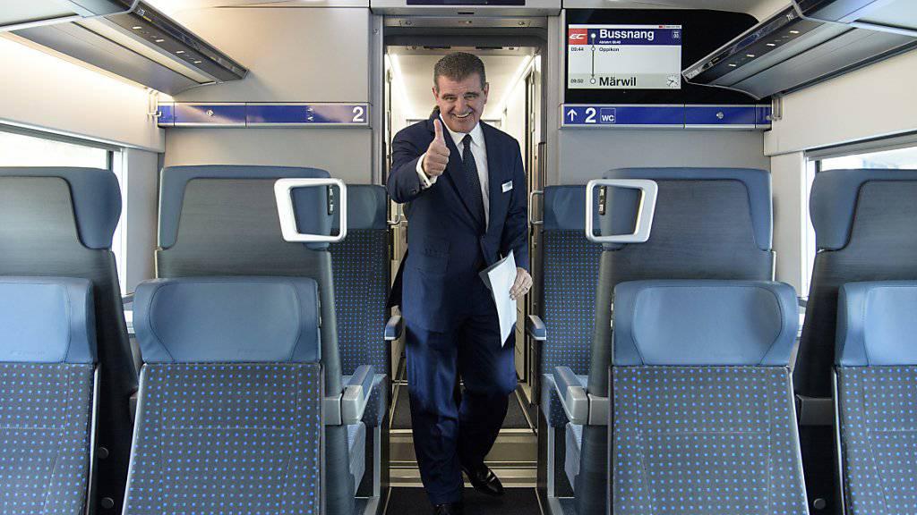Der Börsengang der Stadler Rail soll noch vor Ostern erfolgen: Firmenpatron Peter Spuhler (Archivbild).