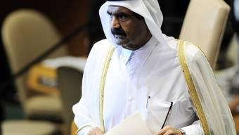 Al-Thani und die Arabische Liga will den Druck auf Syrien beibehalten (Archiv)
