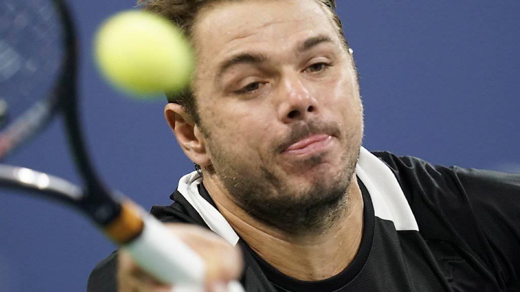 Stan Wawrinka kam nicht auf Touren und bezog am US Open in der 3. Runde gegen Milos Raonic eine klare Niederlage