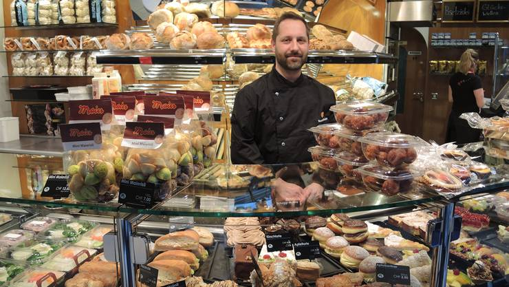 In Roman Maiers Bäckerei in Laufenburg gibts veganen Couscous-Salat.