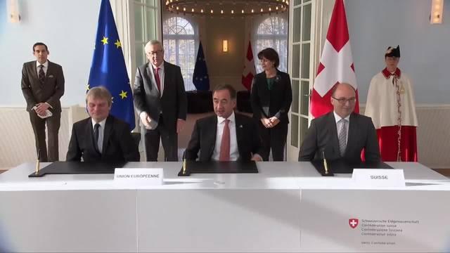 Besuch des EU-Kommissionspräsidenten Juncker in Bern