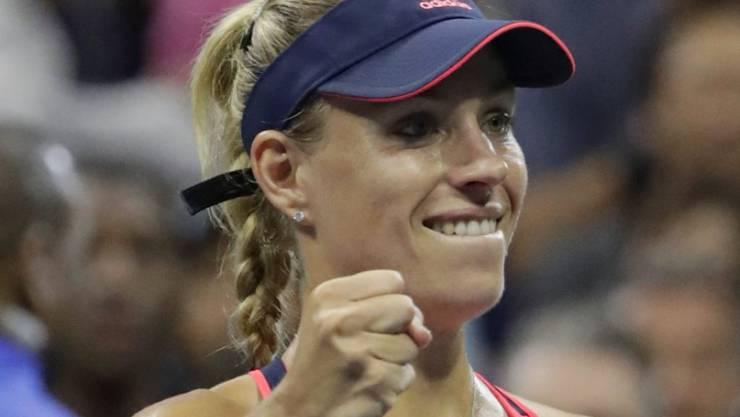Bald die neue Nummer 1 des Frauentennis? Angelique Kerber erreichte am US Open souverän die Viertelfinals