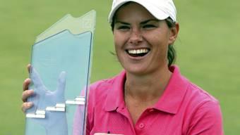 So strahlte Lee-Anne Pace 2010 nach ihrem Sieg im Tessin