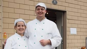 Yves Bottlang und Angela Maurer führen neu die Bözberg-Bäckerei.