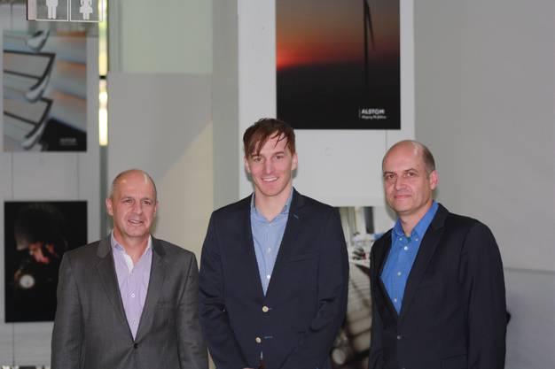 Drei Referenten mit drei spannenden Vorträgen rund um die Wartung von Haustechnikanalgen: von links: Hans-Christian Angele, Martin Mühlebach, Frank Gubser.