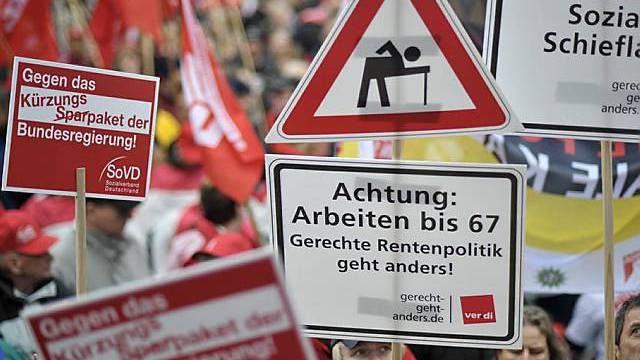 Protest gegen soziale Ungerechtigkeiten