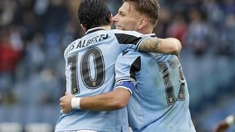 Jubel bei Lazio Rom über die Tabellenführung