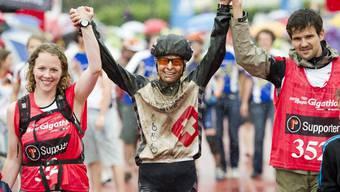 Im Bild die Sieger von 2013, die Bernerin Andrea Huser.