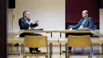 Bürgergemeindepräsident Andreas Gasche (links) und Einwohnergemeindepräsident Etienne Gasche befürworten eine Fusion.