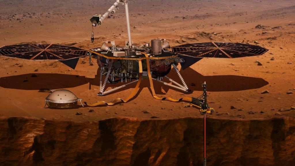 Mars-Lander der Nasa misst drei grosse Beben auf dem roten Planeten