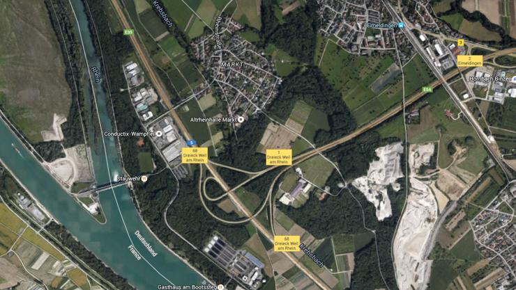 Die Sperrung erfolgt zwischen den Anschlussstellen Efringen-Kirchen und dem Autobahndreieck Weil am Rhein.