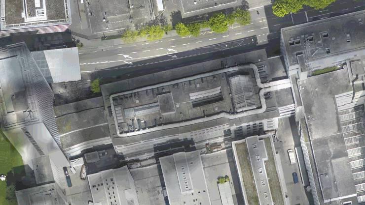 Das Roche-Gelände im Luftbild 2010.