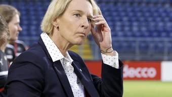 Martina Voss-Tecklenburg kann mit dem Start ihrer Mannschaft am Cyprus Cup nicht zufrieden sein