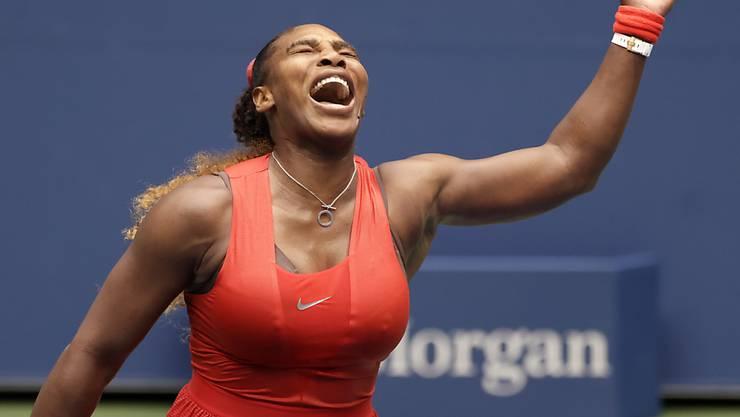 Schrei der Erlösung: Serena Williams zog nach dem Verlust des ersten Satzes doch noch in die US-Open-Halbfinals ein
