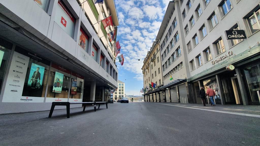 Der erste Lockdown-Tag in Luzern
