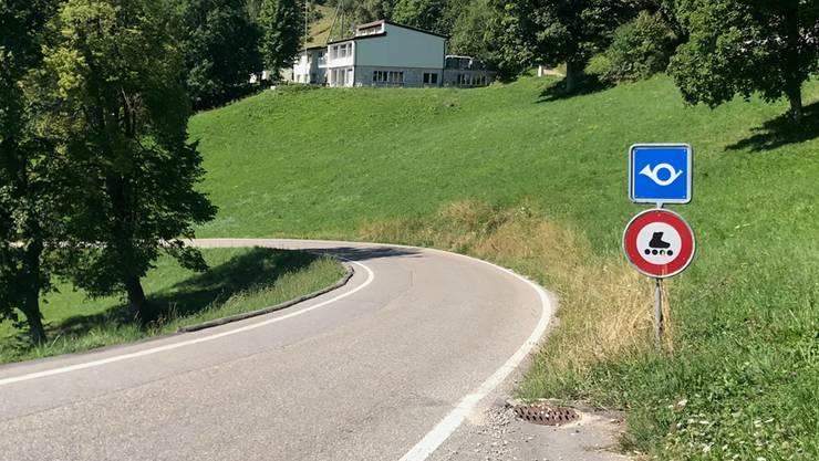 Dieses Schild gibts im Kanton nur am Balmberg.