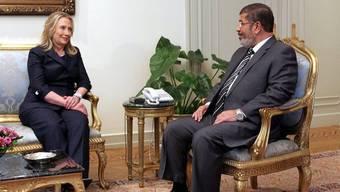 US-Aussenministerin Hillary Clinton und der ägyptische Präsident Mohammed Mursi