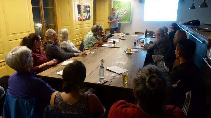Patrick Weibel-Adam fesselte mit seinem Referat «Stadtklima im Klimawandel» das interessierte Publikum