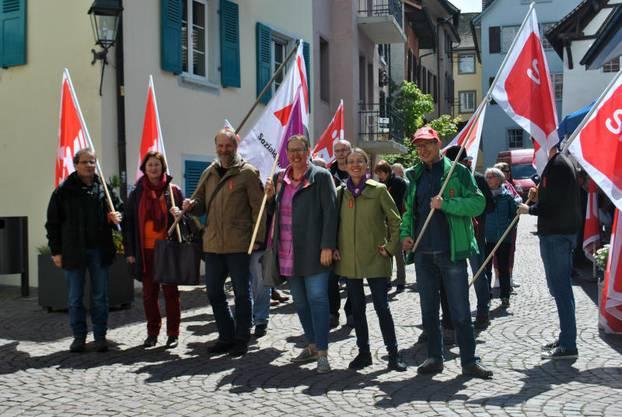 Weitere Bilder von der Demonstration.