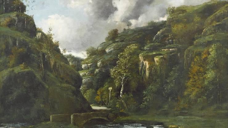"""Selbst renommierten Experten war das Werk """"Paysage du Jura"""" von Gustave Courbet nicht bekannt. Das Ölgemälde aus dem Jahr 1872 ist nun im Besitz des Kantons Jura. (Pressebild)"""
