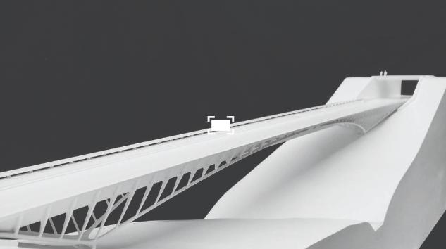 Elegant und stattlich: Die Spannweite der Brücke soll 80 bis 90 Meter betragen und ungefähr 4 Meter tiefer liegen als der heutige Damm.