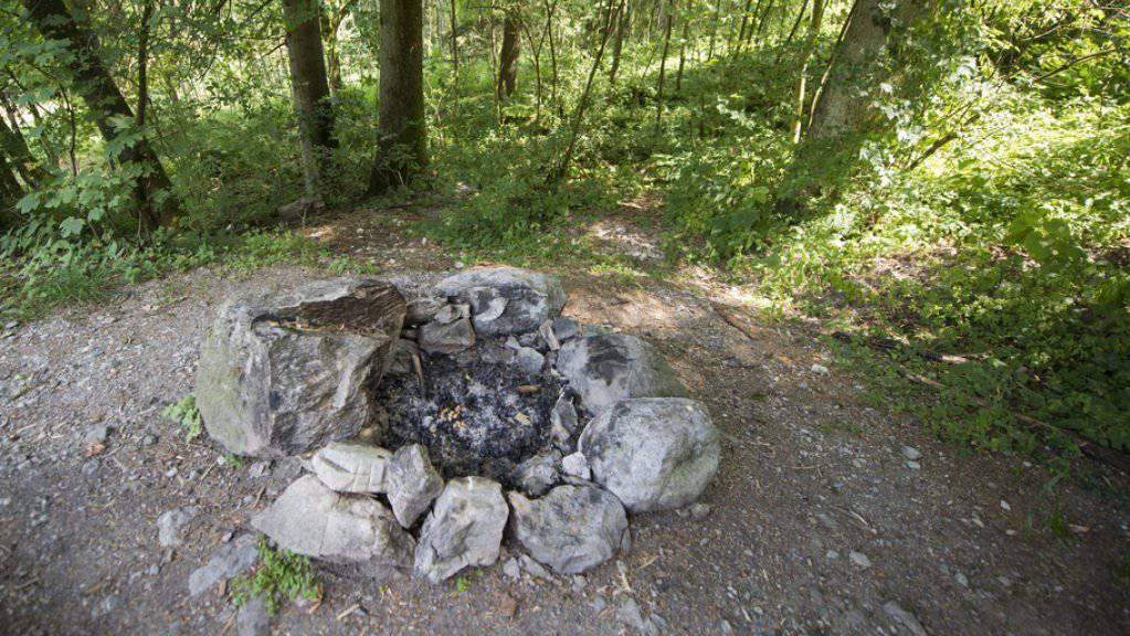Grillieren im Wald verboten: Auch die Kantone Freiburg und Neuenburg erlassen wegen der Waldbrandgefahr ein Feuerverbot im Wald und in Waldesnähe. (Archiv)