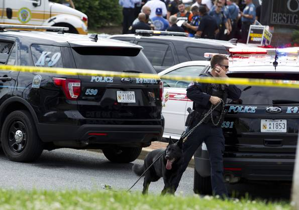 Bilder von der tödlichen Schiesserei in Annapolis im US-Bundesstaat Maryland.