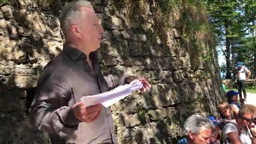 5. Etappe Leserwandern: Historiker Christoph Rast über den Kriegs-Alltag der Soldaten auf der Belchenflue.